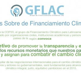 13/05 Taller sobre financiamiento del cambio climático (streaming)